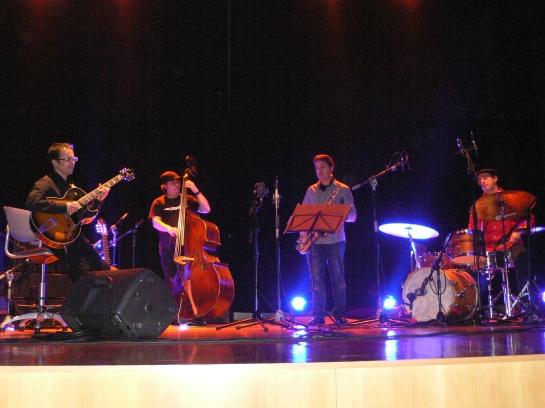Momento del concierto presentación de La Voz del Árbol en el Centro Municipal Integrado de Pumarín Gijón Sur